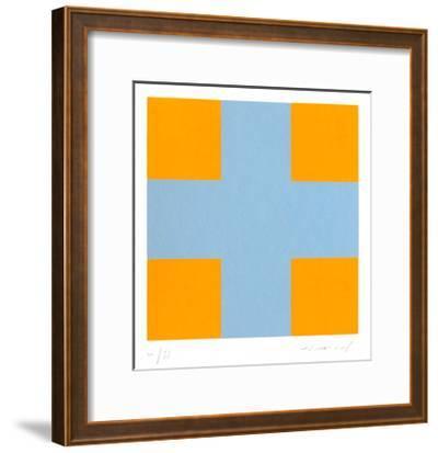 Une croix pour quatre carrés-Aur?lie Nemours-Framed Limited Edition