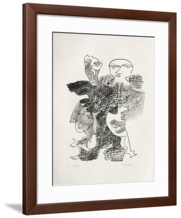 Portraits VIII : Hommage à Claudel-Charles Lapicque-Framed Limited Edition