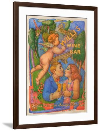 Willi's Wine Bar, 1995-Serge Cl?ment-Framed Premium Edition