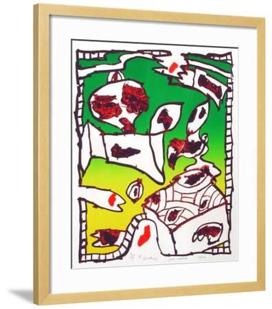 Pour saluer-Pierre Alechinsky-Framed Premium Edition
