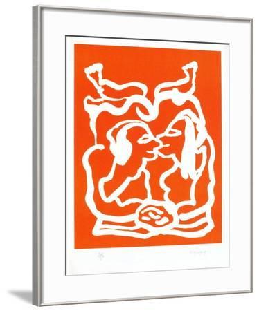 Portraits X : Idylle étrusque-Charles Lapicque-Framed Limited Edition