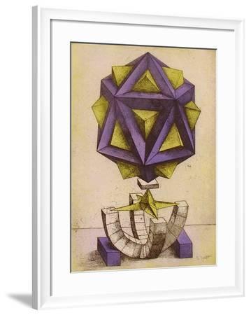 Figure géométrique II-Jorg Neizert-Framed Limited Edition