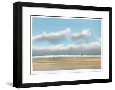 Plage du Miramar à Biarritz-Pierre Doutreleau-Framed Collectable Print