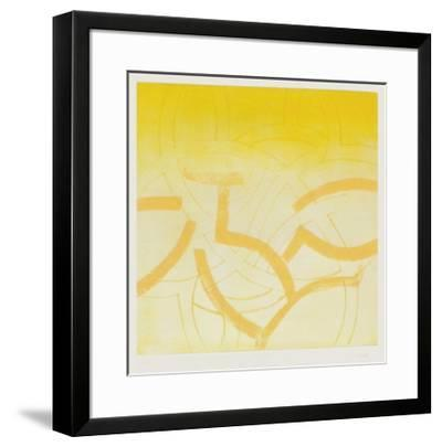 Composition en jaune-Monique Frydman-Framed Limited Edition