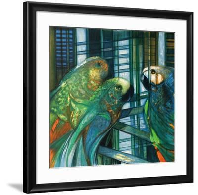 Les perroquets-Camille Hilaire-Framed Premium Edition