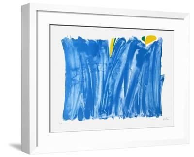 Signe paysage bleu-Olivier Debre-Framed Premium Edition