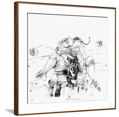 Couleurs possibles : naissance n°3-Vladimir Velickovic-Framed Limited Edition