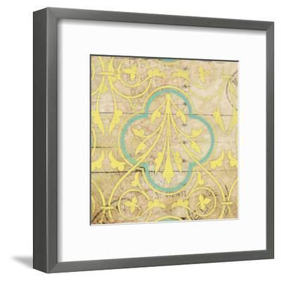 Turq Pattern 7-Jace Grey-Framed Art Print