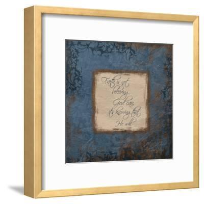 Blue Faith-Jace Grey-Framed Art Print