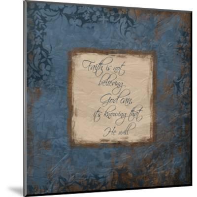 Blue Faith-Jace Grey-Mounted Art Print