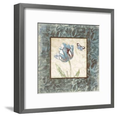 Butterfly Tulip 2-Jace Grey-Framed Art Print
