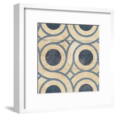 Geo Patch 5-Jace Grey-Framed Art Print