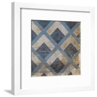 Blue Geo 9-Jace Grey-Framed Art Print