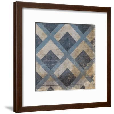 Blue Geo 9-Jace Grey-Framed Art Print