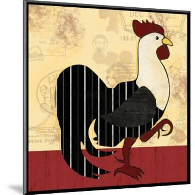 A Horizontal Rooster-Lauren Gibbons-Mounted Art Print