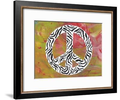 Safari Peace Zebra-Beverly Dyer-Framed Art Print