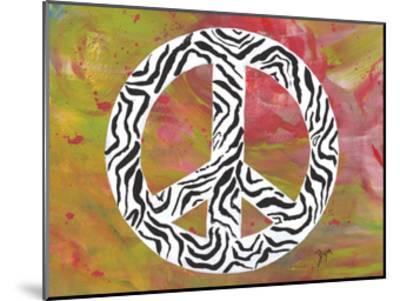 Safari Peace Zebra-Beverly Dyer-Mounted Art Print
