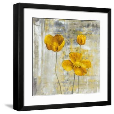Yellow Flowers II-Carol Black-Framed Art Print