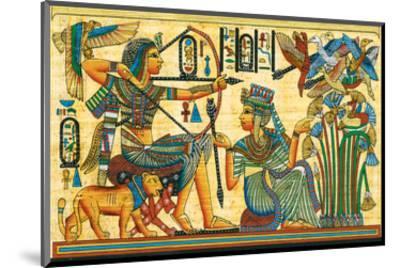 Tutankhamun Hunting Birds--Mounted Art Print