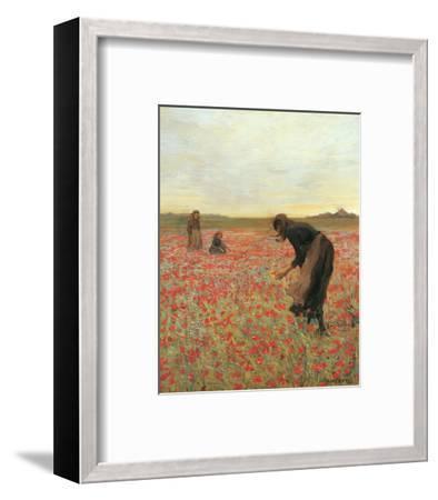 Girls in Poppy Field-Lawren Morris-Framed Art Print