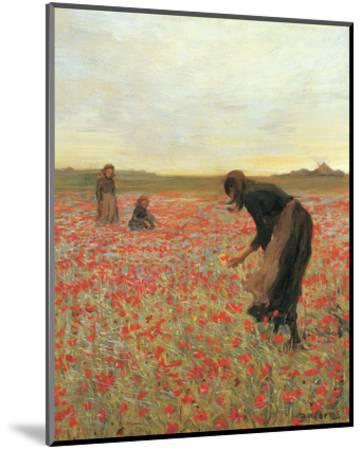Girls in Poppy Field-Lawren Morris-Mounted Art Print