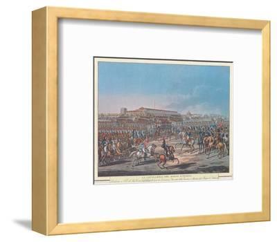 Napoleon et la Garde d'Honneur de Milan--Framed Art Print
