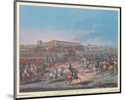 Napoleon et la Garde d'Honneur de Milan--Mounted Art Print