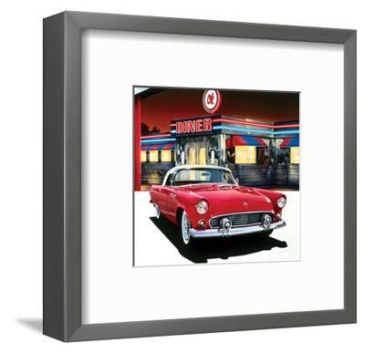 Ford Thunderbird '55-Graham Reynolds-Framed Art Print