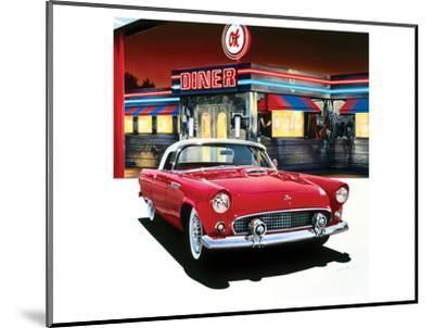 Ford Thunderbird '55-Graham Reynolds-Mounted Art Print