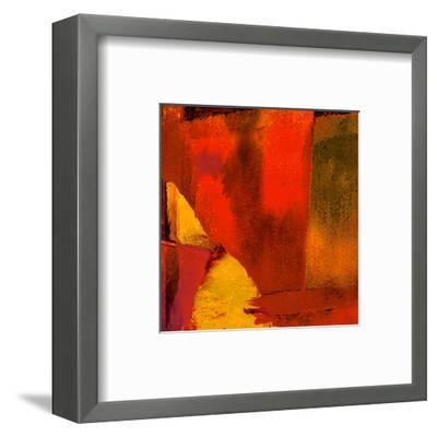 Triptych Red Wassily I-Petro Mikelo-Framed Art Print