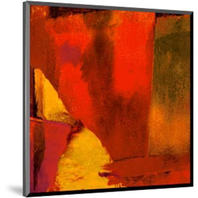 Triptych Red Wassily I-Petro Mikelo-Mounted Art Print