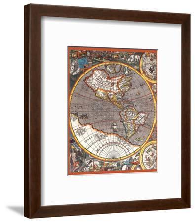 Map of North America II--Framed Art Print