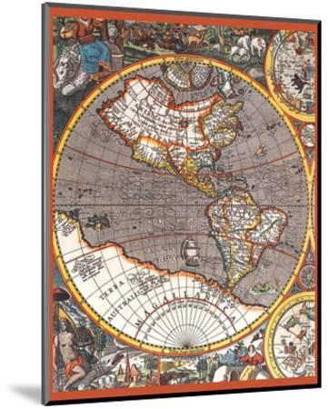 Map of North America II--Mounted Art Print