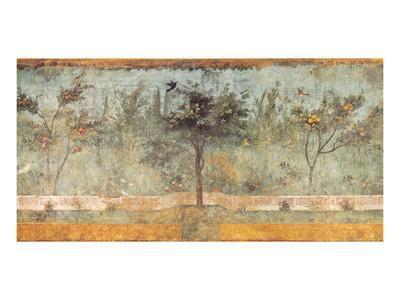Pompeian Art, Garden Fresco I--Framed Art Print