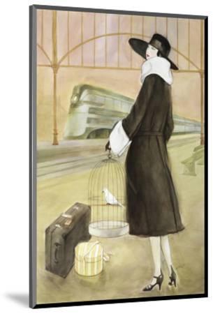Lady at Train Station-Graham Reynold-Mounted Art Print