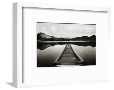 Emigrant Lake Dock I in Black and White-Shane Settle-Framed Art Print
