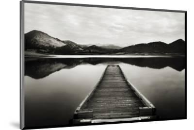 Emigrant Lake Dock I in Black and White-Shane Settle-Mounted Art Print