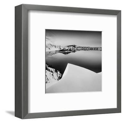 Crater Lake in Black and White-Shane Settle-Framed Art Print