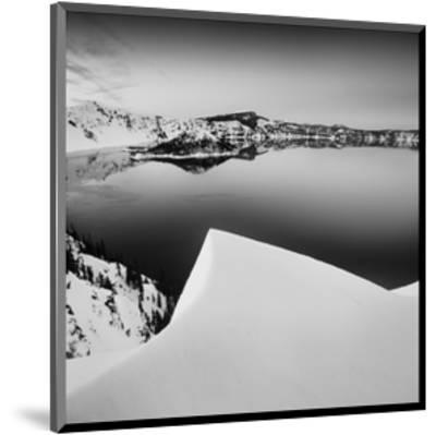 Crater Lake in Black and White-Shane Settle-Mounted Art Print