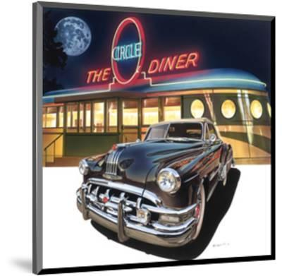 Pontiac Chieftain '50 at The Circle Diner-Graham Reynold-Mounted Art Print