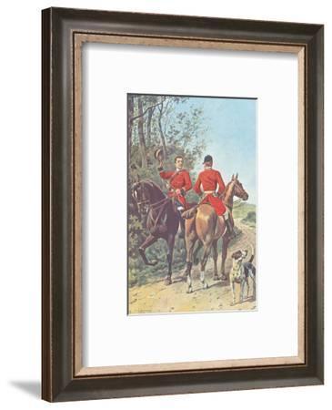 Hunting Team (1892)-J. Condamy-Framed Art Print