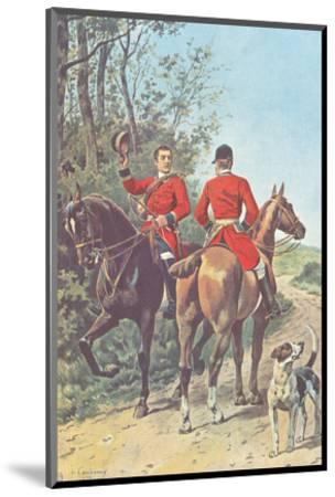 Hunting Team (1892)-J. Condamy-Mounted Art Print