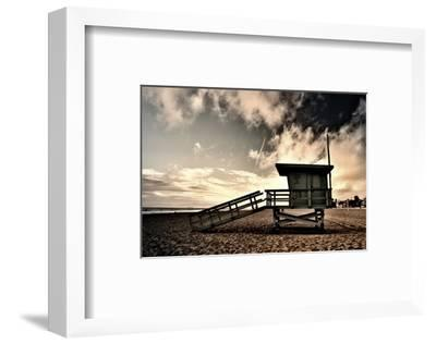 Life Guard at 19th Street-Shane Settle-Framed Art Print