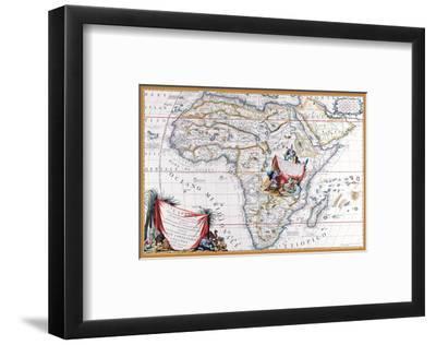 Map of Africa-Vincenzo Coronelli-Framed Art Print
