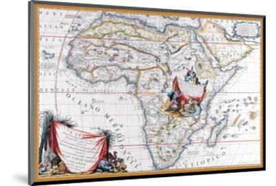 Map of Africa-Vincenzo Coronelli-Mounted Art Print