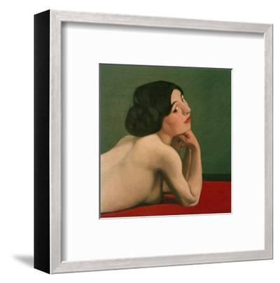 Reclining Nude on a Red Carpet-F?lix Vallotton-Framed Giclee Print