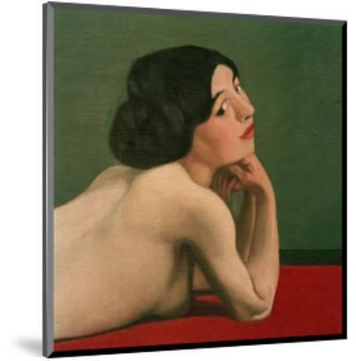 Reclining Nude on a Red Carpet-F?lix Vallotton-Mounted Giclee Print