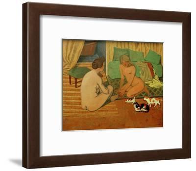 Women and Cats-F?lix Vallotton-Framed Giclee Print