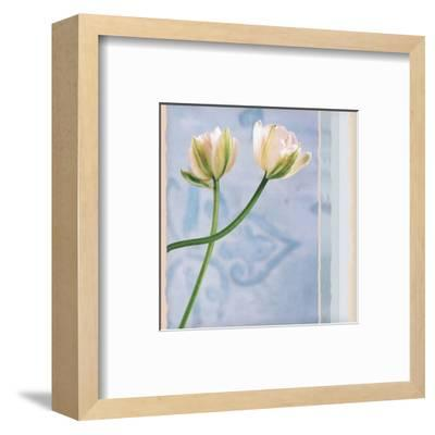 Tulip and Blue Tapestry II-Richard Sutton-Framed Art Print