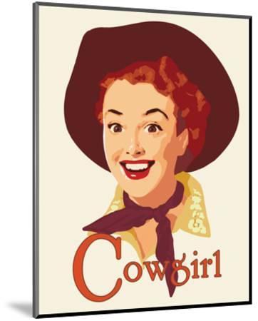 Cowgirl-Richard Weiss-Mounted Art Print